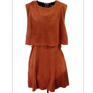Fashion Union ultra suede dress open sides zips